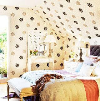 卧室背景墙墙纸个性壁纸效果图