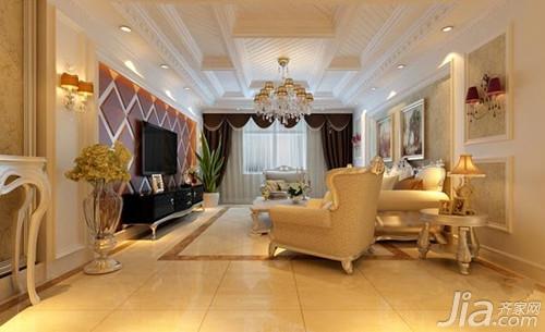 客厅吊顶 欧式客厅吊顶效果图欣赏