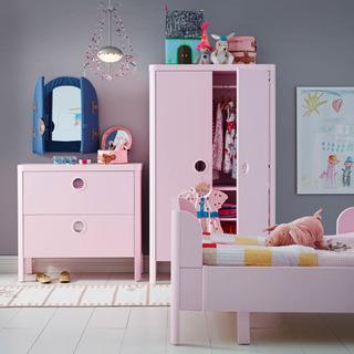 粉色衣柜效果图