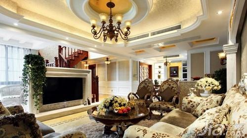 复式楼装修重要的在于客厅装修效果,楼梯设计,客厅吊顶等都是重点图片