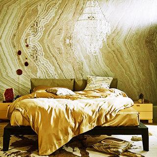 仿真卧室壁纸装修效果图