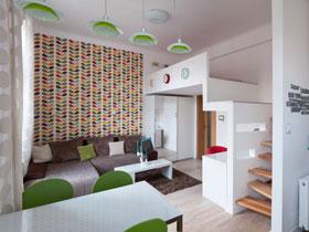 48平清新简欧风loft公寓装修 处处透漏着欢乐气息