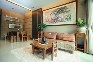 温馨中式客厅效果图
