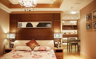 时尚中式卧室效果图