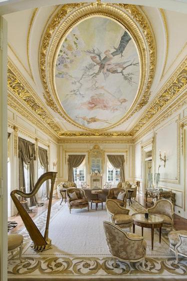 圆形欧式客厅吊顶效果图
