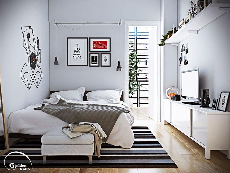 小清新现代简约卧室图片
