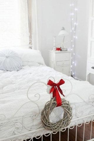 雪白圣诞卧室设计