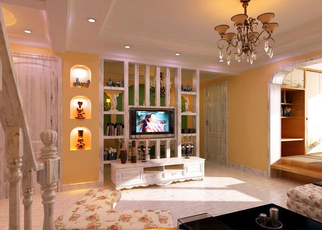 电视背景墙隔断设计图