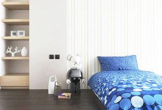 条纹卧室壁纸装修效果图