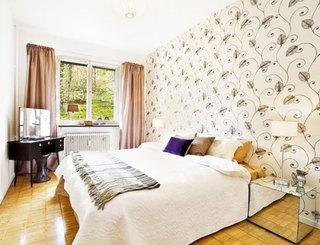 花纹卧室壁纸装修效果图