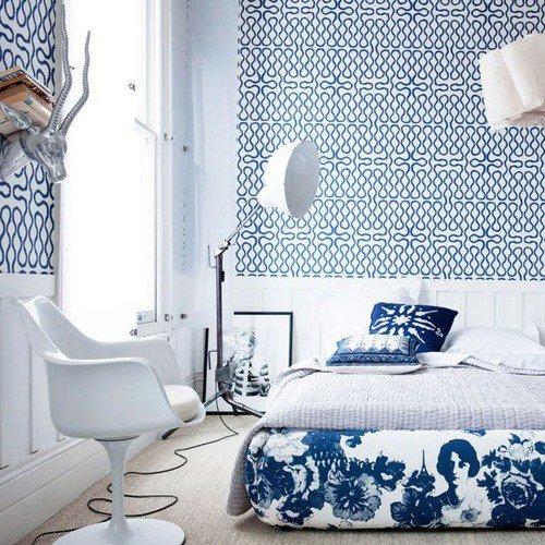 小清新风来袭 12款卧室背景墙设计图片