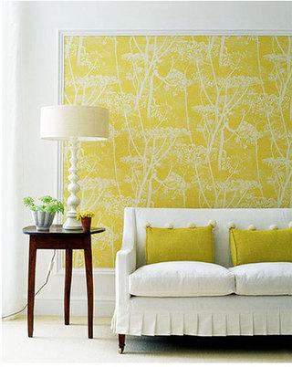 黄色小客厅装修效果图