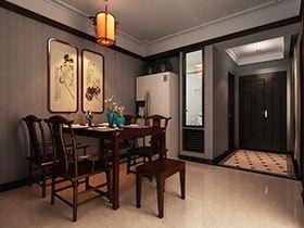 16张中式餐厅背景墙图片 看古典装饰画