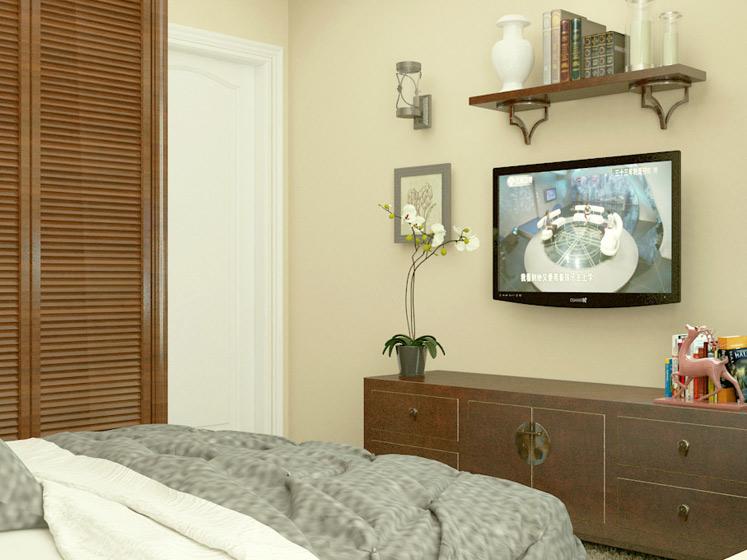 田园风格二居室暖色调5-10万80平米装修图片