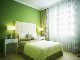 青草爬上墙 15款草绿色卧室背景墙图