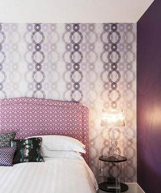 大气紫色卧室效果图