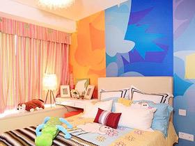 温馨睡眠画出来 12款卧室手绘墙图片