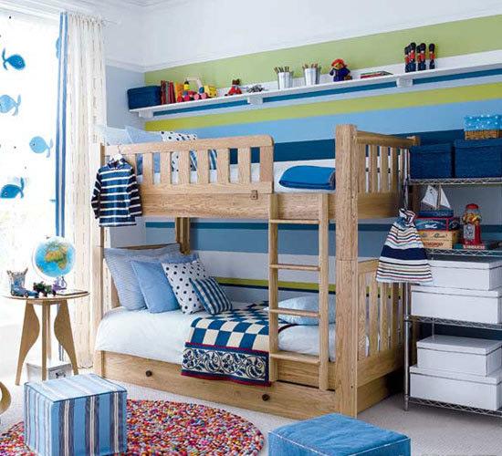 实木双层儿童床效果图