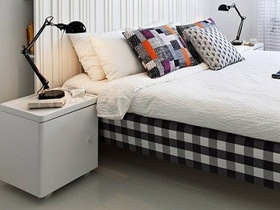 清新臥室從小開始 12款白色床頭柜圖片