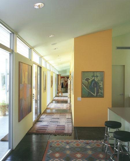 美式走廊过道效果图