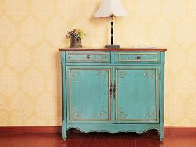 收纳兼具展示 13款蓝色玄关柜图片