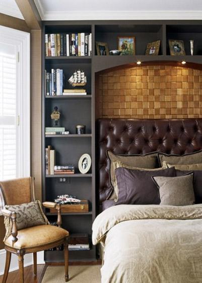 简欧卧室床头装修效果图图片