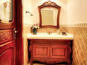 奢华美式风 14张红色浴室柜效果图