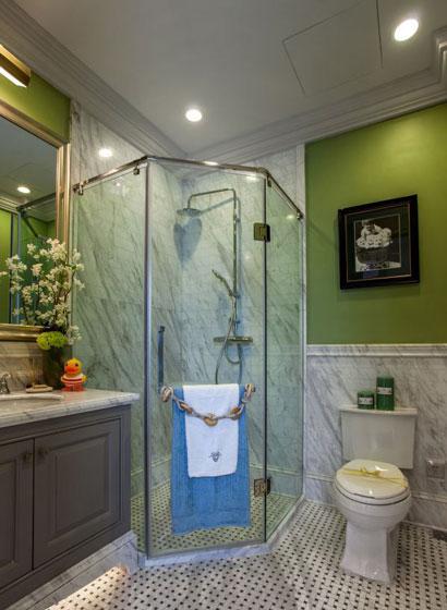 绿色卫生间背景墙效果图