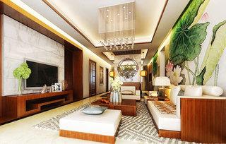 奢华中式客厅吊灯效果图