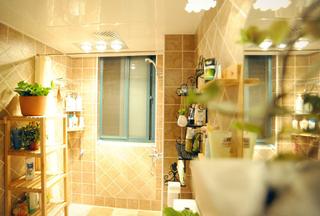 干湿分离宽敞卫生间设计效果图