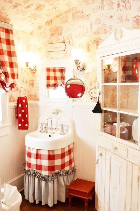 田园风浴室柜设计图