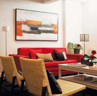 温馨暖色调客厅设计效果图