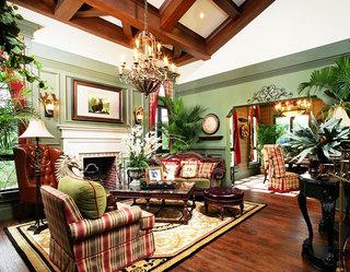 华丽美式客厅吊灯效果图