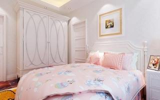 粉色白色田园卧室效果图