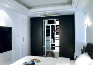 黑白时尚简约卧室效果图