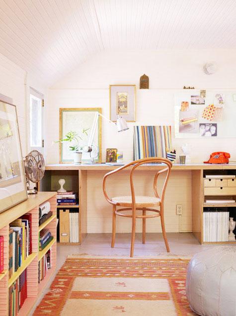 原木色书柜设计图