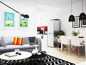 波普北欧风混搭小公寓 更温馨的家
