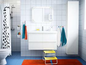 强收纳卫浴间设计 13款白色宜家浴室柜图片