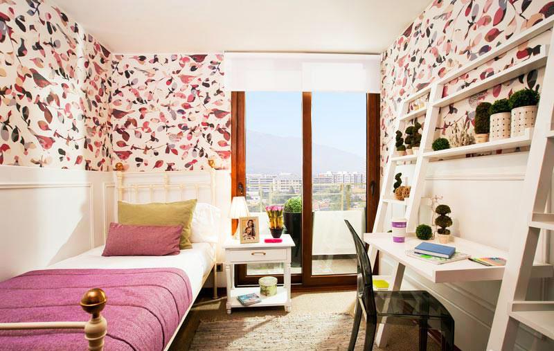狭长女生卧室设计效果图