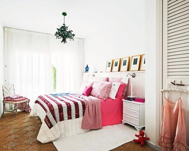 白色女生卧室设计效果图