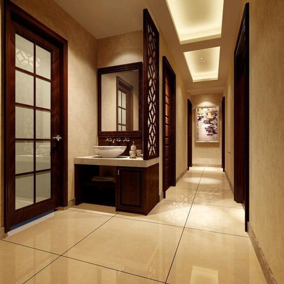 经典中式走廊背景墙效果图