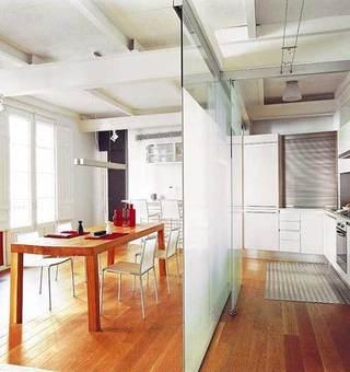 厨房餐厅玻璃隔断设计效果图片