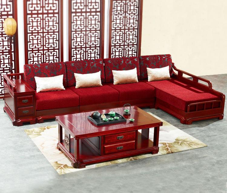 雅致客厅红木沙发效果图