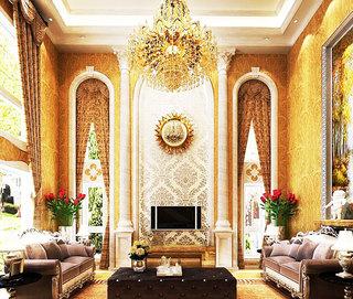 奢华别墅客厅沙发图片