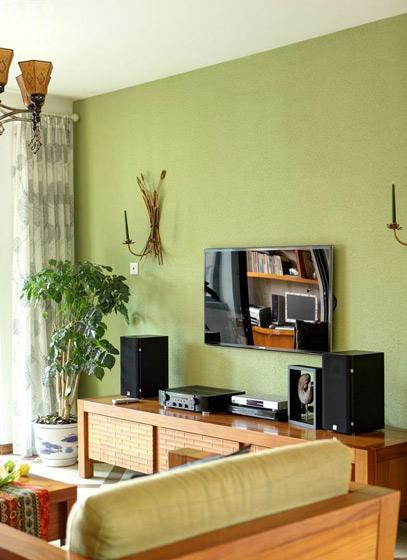 绿色田园电视背景墙效果图