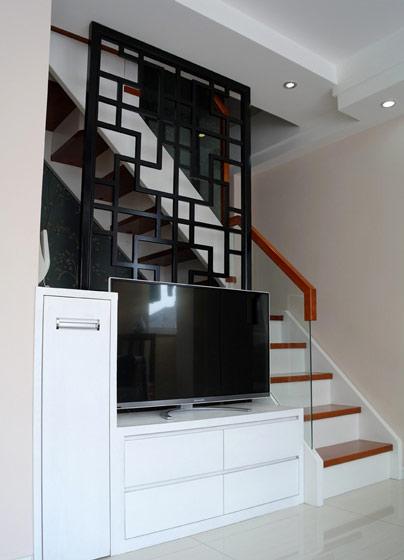 中式屏风电视背景墙效果图