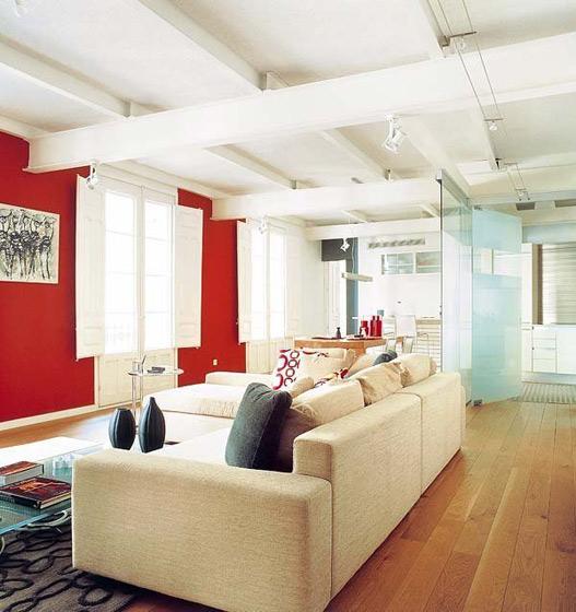 现代简约风格二居室暖色调5-10万90平米设计图纸