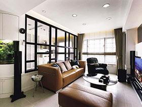 客厅玻璃隔断 14图兼具实用与美感
