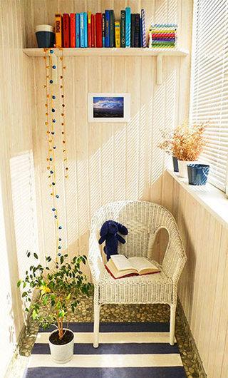 阳台书房装修效果图
