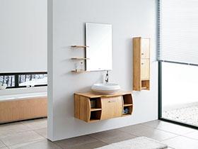 13张实木浴室柜效果图 清新自然
